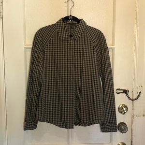 Theory long sleeve button down shirt